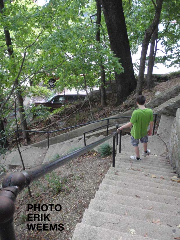 Stairs in Eureka SPrings Arkansas