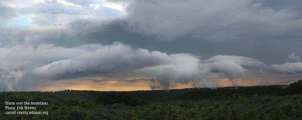 Storm over the Ozarks - photo Erik Weems